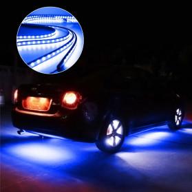 JIAMEN Lampu LED Strip Mobil RGB Underglow Car Body 90/120 cm 4PCS with Bluetooth App Controller - JIA4 - Black - 4
