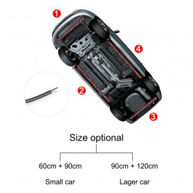 JIAMEN Lampu LED Strip Mobil RGB Underglow Car Body 90/120 cm 4PCS with Bluetooth App Controller - JIA4 - Black - 9