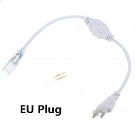 Tanbaby Konektor Lampu LED Strip 220V EU Plug - 5050-60N - White