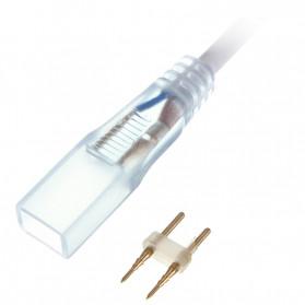 Tanbaby Konektor Lampu LED Strip 220V EU Plug - 5050-60N - White - 2
