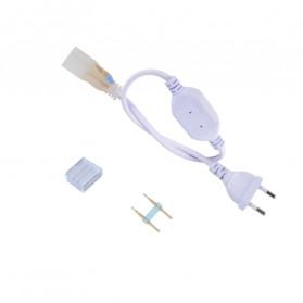Tanbaby Konektor Lampu LED Strip 220V EU Plug - 5050-60N - White - 3