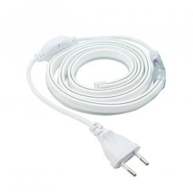 Tanbaby Konektor Lampu LED Strip 220V EU Plug - 5050-60N - White - 5