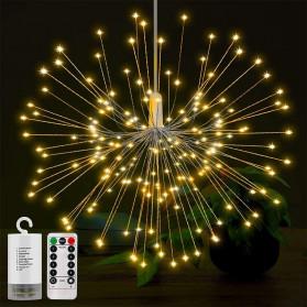 Toifucos Lampu Hias Gantung Model Meteor Rain Fireworks 120 LED with Remote - S14622 - Warm White