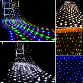 Laimanice Lampu Hias Dekorasi Taman Model Jaring LED 3 x 2 Meter - LM-01 - Warm White - 6