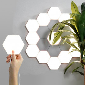 Coquimbo Lampu Dekorasi Dinding Quantum LED Lamp Modular Hexagon Touch 3 PCS - M99 - White