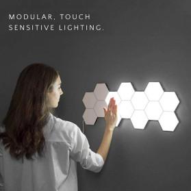 Coquimbo Lampu Dekorasi Dinding Quantum LED Lamp Modular Hexagon Touch 3 PCS - M99 - White - 2