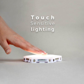 Coquimbo Lampu Dekorasi Dinding Quantum LED Lamp Modular Hexagon Touch 3 PCS - M99 - White - 3