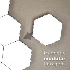 Coquimbo Lampu Dekorasi Dinding Quantum LED Lamp Modular Hexagon Touch 3 PCS - M99 - White - 4