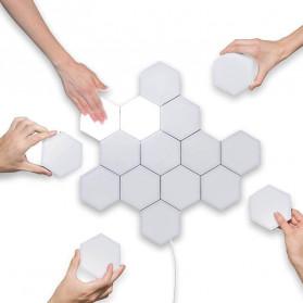 Coquimbo Lampu Dekorasi Dinding Quantum LED Lamp Modular Hexagon Touch 3 PCS - M99 - White - 5