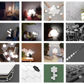 Coquimbo Lampu Dekorasi Dinding Quantum LED Lamp Modular Hexagon Touch 3 PCS - M99 - White - 7