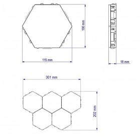 Coquimbo Lampu Dekorasi Dinding Quantum LED Lamp Modular Hexagon Touch 3 PCS - M99 - White - 9