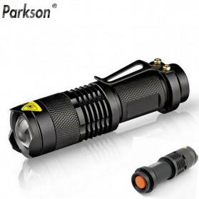 PARKSON Senter LED Mini Flashlight Waterproof Cree Q5 2000 Lumens - Q520 - Black