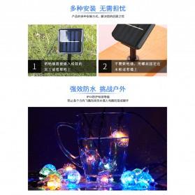 YUSHILED Lampu Hias Dekorasi 100 LED 12 Meter with Solar Panel - M074 - Mix Color - 9