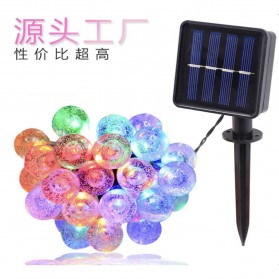 YUSHILED Lampu Hias Dekorasi 100 LED 12 Meter with Solar Panel - M074 - Mix Color