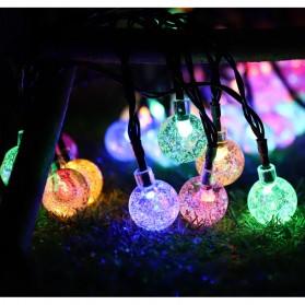 YUSHILED Lampu Hias Dekorasi 100 LED 12 Meter with Solar Panel - M074 - Mix Color - 6