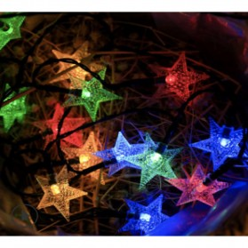 YUSHILED Lampu Hias Dekorasi 100 LED 12 Meter with Solar Panel - M078 - Mix Color