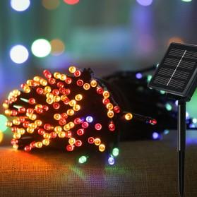 YUSHILED Lampu Hias Dekorasi 100 LED 12 Meter with Solar Panel - M080 - Mix Color