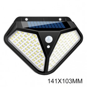 Mayitr Lampu Solar Panel Sensor Gerak PIR Outdoor Waterproof 102 LED - LF-1728A - Black - 1