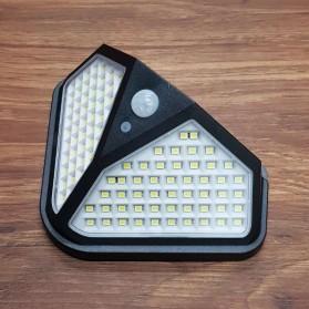 Mayitr Lampu Solar Panel Sensor Gerak PIR Outdoor Waterproof 102 LED - LF-1728A - Black - 3
