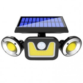 Choifoo Lampu Solar Panel Sensor Gerak PIR Outdoor Waterproof 83 COB LED - 208ABS - Black