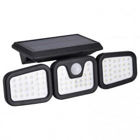 LDTO Lampu Solar Panel Sensor Gerak PIR Outdoor Waterproof 74 LED - FH-74A - Black