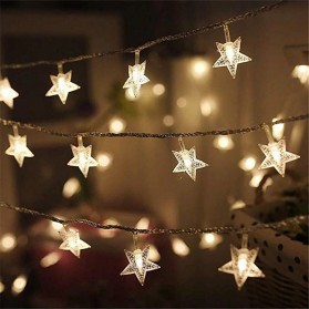 ANBLUB Lampu Hias Dekorasi Star Light String Twinkle 20 LED 3 Meter - G23 - Warm White