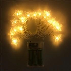ANBLUB Lampu Hias Dekorasi Star Light String Twinkle 20 LED 3 Meter - G23 - Warm White - 6