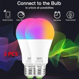 VBS Smart Light Bulb Bluetooth Bohlam LED RGB E27 15W 2PCS - V320 - White