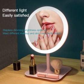 ORZ Cermin Makeup dengan Lampu LED Ring Light + Wadah - HZJ-033 - Pink