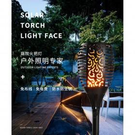 Warmtaste Lampu Api Dekorasi Flame Fire Torch Light Waterproof 33 LED with Solar Panel - YMJ010 - Black