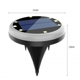 VKTECH Lampu Tanam LED Solar Panel Outdoor Waterproof 6 LED Colorful - VL320 - Black/Green - 8