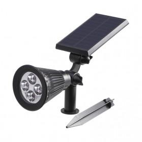 T-Sun Lampu Taman Energi Solar Panel Outdoor Light RGB 7 LED - TS-G0102 - Black - 2