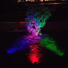 T-Sun Lampu Taman Energi Solar Panel Outdoor Light RGB 7 LED - TS-G0102 - Black - 4