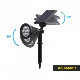 T-Sun Lampu Taman Energi Solar Panel Outdoor Light RGB 7 LED - TS-G0102 - Black - 8
