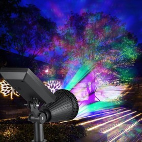 T-Sun Lampu Taman Energi Solar Panel Outdoor Light RGB 7 LED - TS-G0102 - Black - 9
