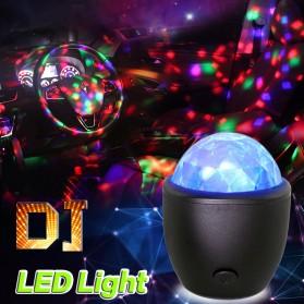 AGM Lampu Disco LED Mini Crystal Magic Ball Light USB - AC21 - Black