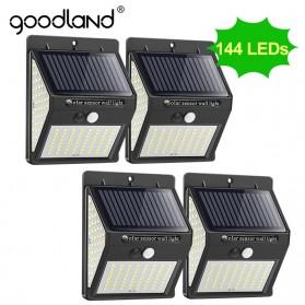 Goodland Lampu Solar Sensor Gerak Outdoor Weatherproof 144 LED - L21 - Black - 1