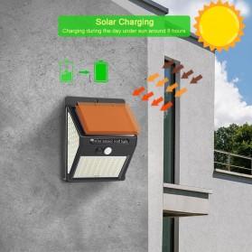 Goodland Lampu Solar Sensor Gerak Outdoor Weatherproof 144 LED - L21 - Black - 10