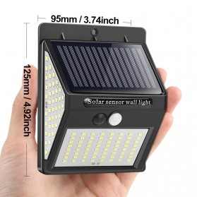 Goodland Lampu Solar Sensor Gerak Outdoor Weatherproof 144 LED - L21 - Black - 2