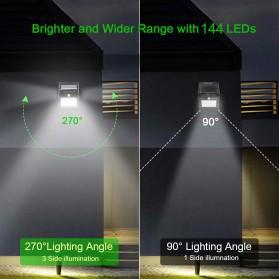 Goodland Lampu Solar Sensor Gerak Outdoor Weatherproof 144 LED - L21 - Black - 4