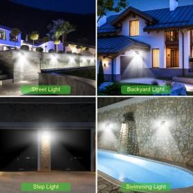 Goodland Lampu Solar Sensor Gerak Outdoor Weatherproof 144 LED - L21 - Black - 6