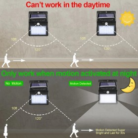 Goodland Lampu Solar Sensor Gerak Outdoor Weatherproof 144 LED - L21 - Black - 7