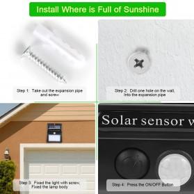 Goodland Lampu Solar Sensor Gerak Outdoor Weatherproof 144 LED - L21 - Black - 8