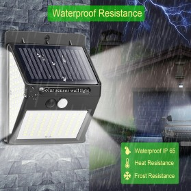 Goodland Lampu Solar Sensor Gerak Outdoor Weatherproof 144 LED - L21 - Black - 9
