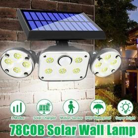 SMUXI Lampu Solar Panel Sensor Gerak Outdoor Waterproof 78 LED - TG-TY051 - Black