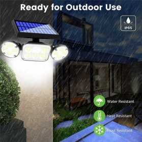 SMUXI Lampu Solar Panel Sensor Gerak Outdoor Waterproof 78 LED - TG-TY051 - Black - 4