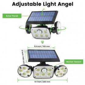 SMUXI Lampu Solar Panel Sensor Gerak Outdoor Waterproof 78 LED - TG-TY051 - Black - 7