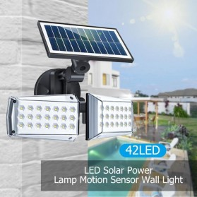 CTOSY Lampu Solar Panel Sensor Gerak PIR Outdoor Waterproof 42 LED - F83791 - Black