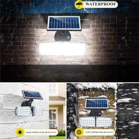 CTOSY Lampu Solar Panel Sensor Gerak PIR Outdoor Waterproof 42 LED - F83791 - Black - 4
