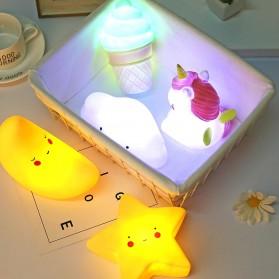 FGHGF Lampu Tidur Anak LED Light Cute Smiley Model Bintang - FGH01 - Blue - 4